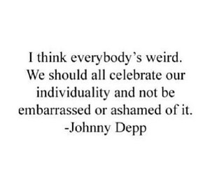 individuality, johnny depp, and quote image