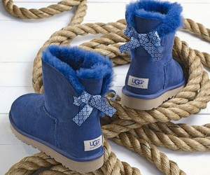 blue, boots, and uggs image