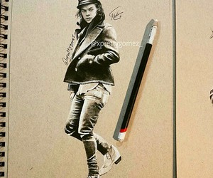 art, drawing, and Harry Styles image