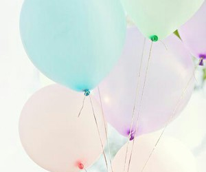 balloons, pastel, and colors image