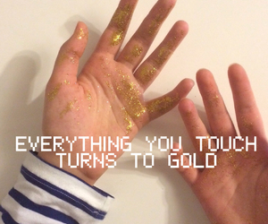 fun, glitter, and gold image