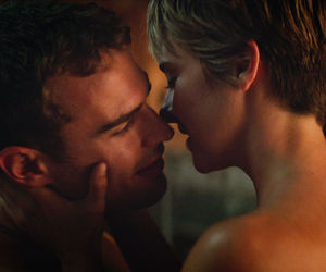 couple, kiss, and insurgent image