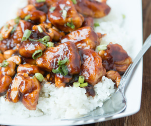 Chicken, cashew, and food image