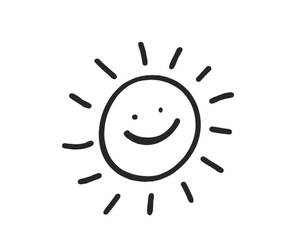 happy, smile, and sun image