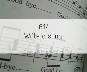 song, write, and life image