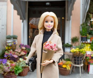 barbie and flowers image