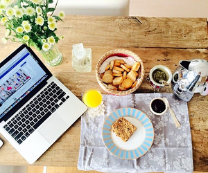 breakfast, healthy, and working image
