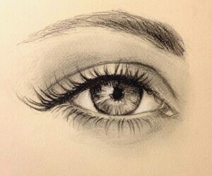 beautiful, drawing, and eye image