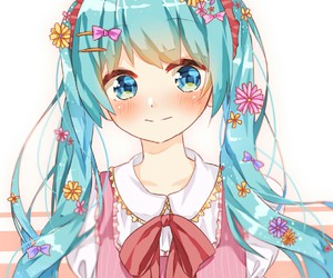 vocaloid, flowers, and kawaii image