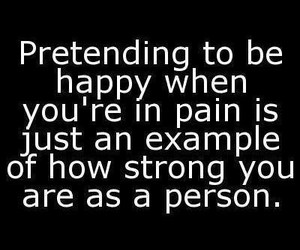 strong, quotes, and pain image