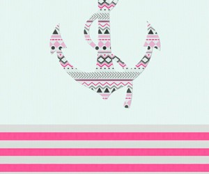 wallpaper, pink, and anchor image