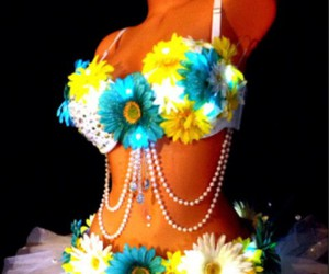 flower, outfits, and rave image