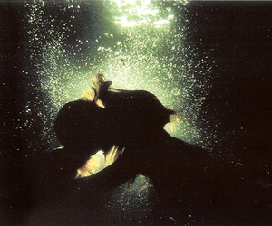 kiss, love, and water image