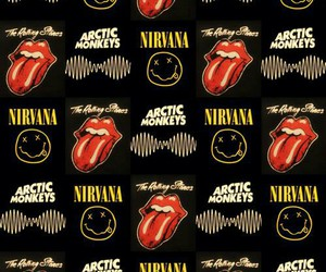background, nirvana, and the rolling stones image