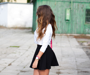 black, girl, and short image