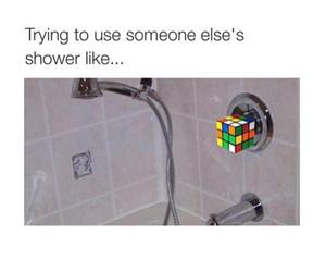 funny, shower, and true image