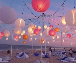 beach, light, and summer image