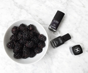 black, chanel, and nails image