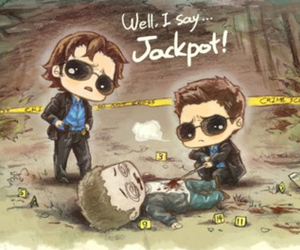 brothers, winchesters, and cartoon image