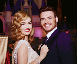 cinderella, lily james, and richard madden image