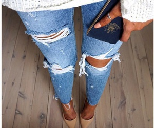 fashion, heels, and jean image