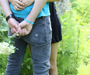 flowers, couple, and love image