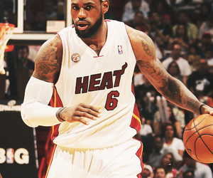 Basketball and LeBron James image