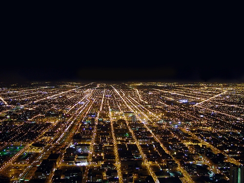 chicago and night image