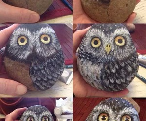 art, diy, and owl image