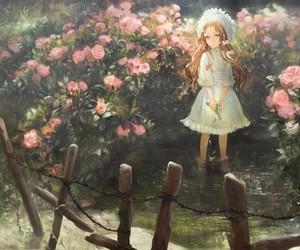 anime, dress, and nature image