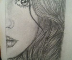 beauty, black and white, and drawing image