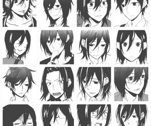 black and white, horimiya, and manga image