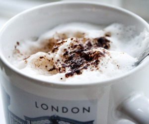 coffee, london, and drink image