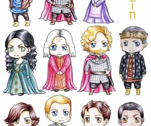 merlin, camelot, and uther pendragon image