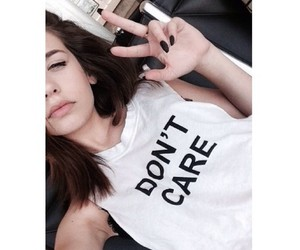 girl, tumblr, and don't care image