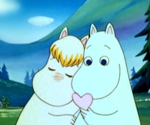 love, moomin, and cartoon image