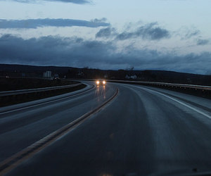 blue, pale, and road image