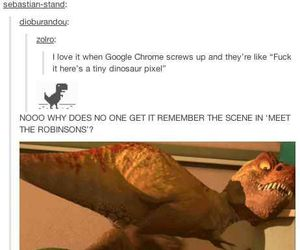 dinosaur, pixar, and meet the robinsons image