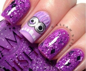 purple, cool, and minions image