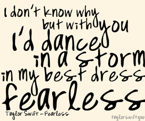fearless, quote, and Taylor Swift image