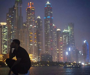 Drake, city, and light image