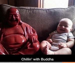 baby, lol, and Buddha image