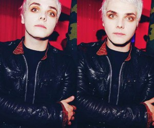 my chemical romance, gerard way, and white hair image