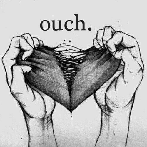 heart, ouch, and love image