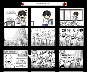 death note, funny, and L image