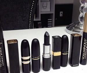 lipstick, black, and mac image
