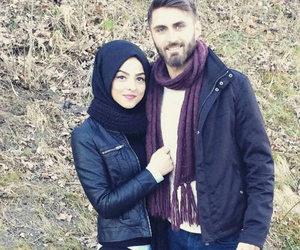 adorable, couple, and muslim image