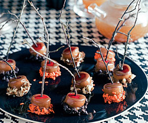 apples, caramel, and Halloween image