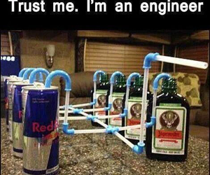 alcohol, drink, and red bull image