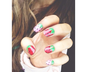ariana grande, nails, and strawberry image